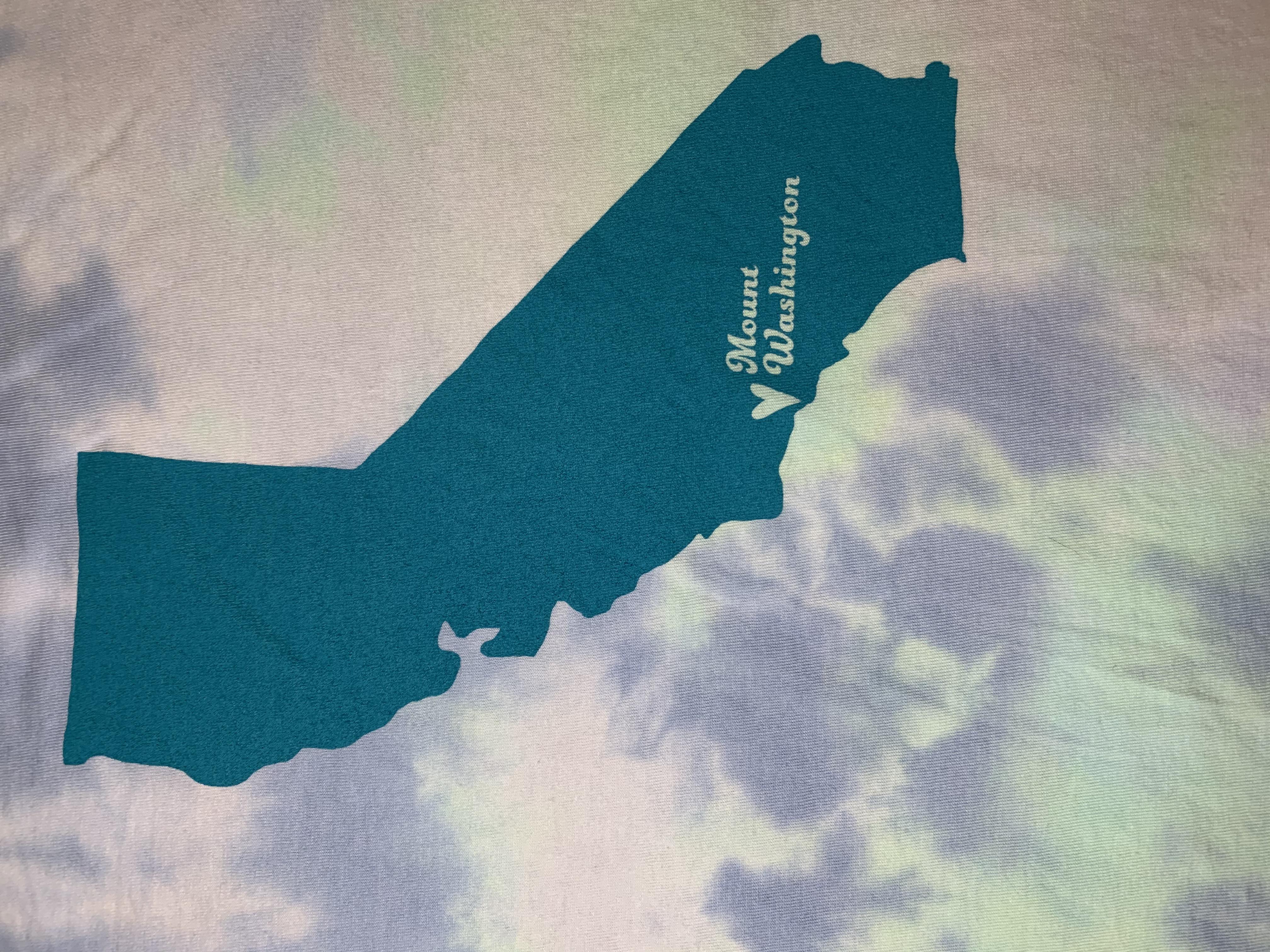 Adult Crewneck Tee - Green Tie Dye/Teal MW Hearts California