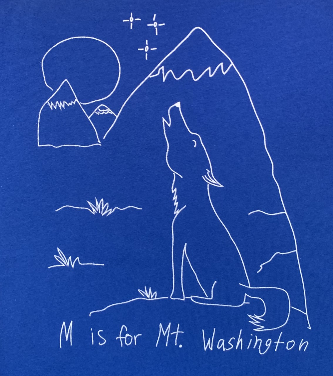 Youth Crewneck Tee - Cobalt Blue/White Howling Wolves