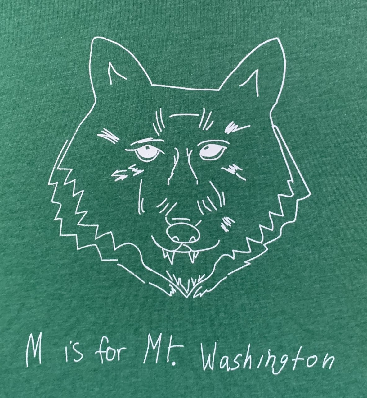 Youth Crewneck Tee - Heather Forest Green/White Wolf