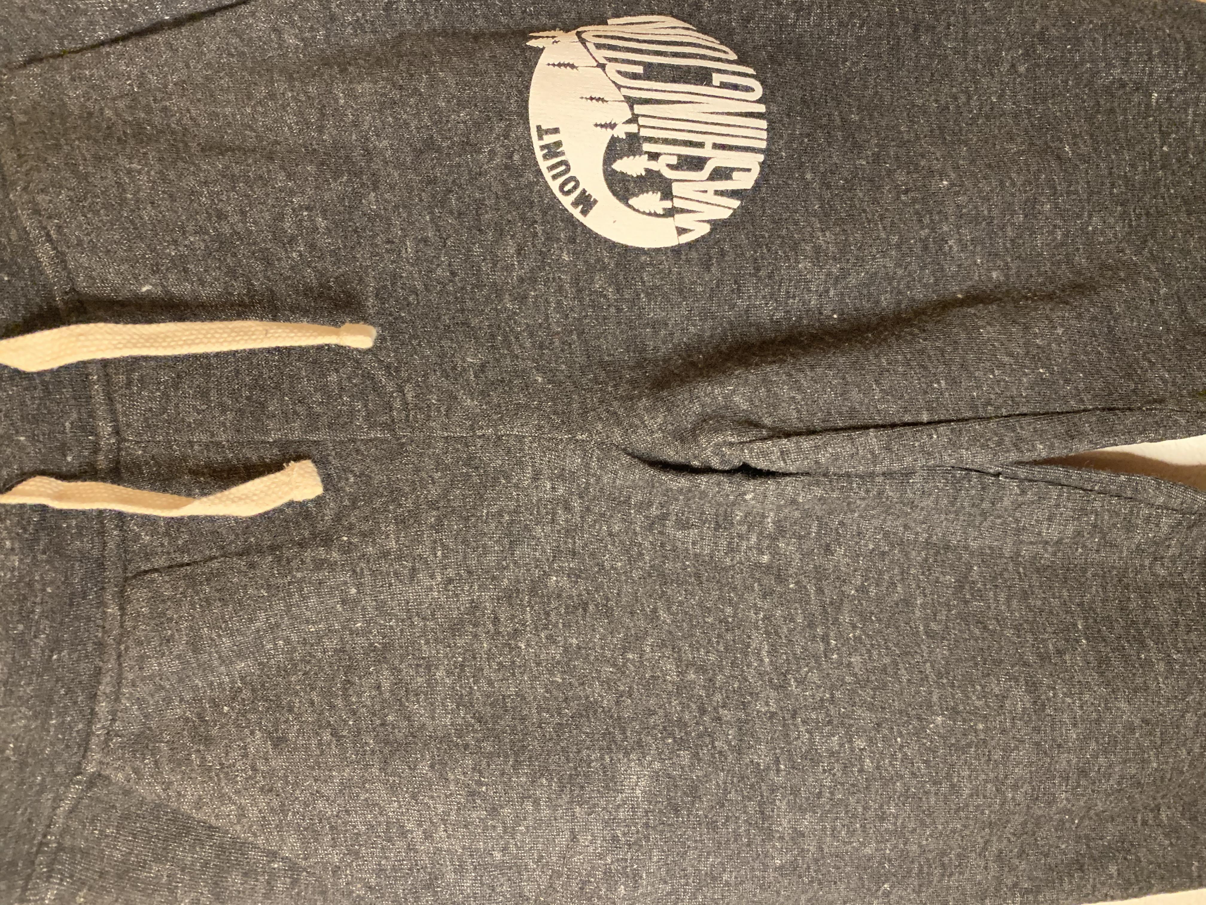 Adult Dodgeball Pants - Eco Black/White Vintage logo
